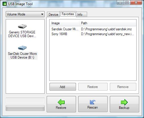 USB Image Tool screenshot