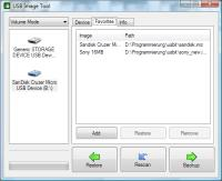 USB Image Tool showing the favorite images tab